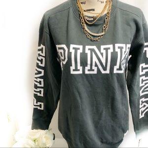 Pink Victoria's Secret pullover logo sweatshirt